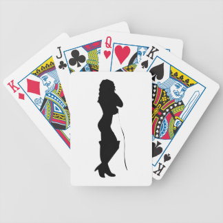 Silhouette Girl Playing Cards