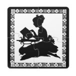Silhouette Girl Reading - Coaster Puzzle Puzzle Coaster