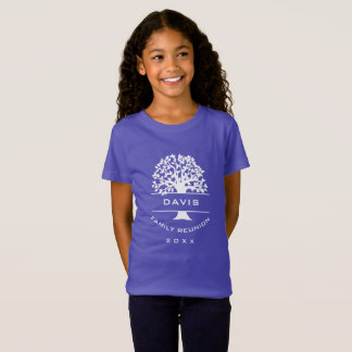 Silhouette Girls Family Tree Reunion Souvenir T-Shirt