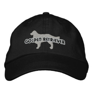 Silhouette Golden Retriever Embroidered Hat