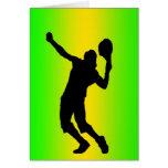 silhouette green serve card