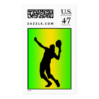 silhouette green serve stamp