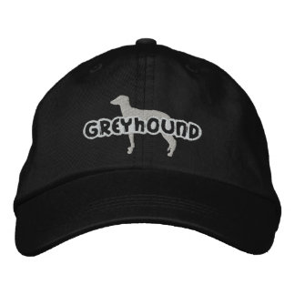 Silhouette Greyhound Embroidered Hat