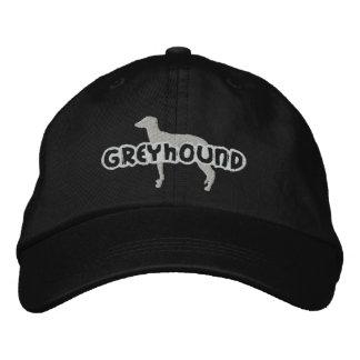 Silhouette Greyhound Embroidered Hat