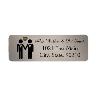 Silhouette Groom and Groom - Tall Label
