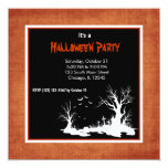 Silhouette Halloween Party Custom Announcement