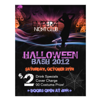 Silhouette Halloween Promotional Club Flyer