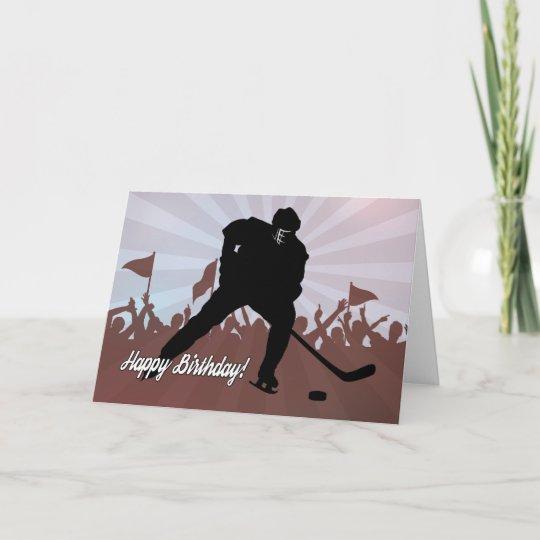 Silhouette Hockey Player For Birthday Card Zazzle