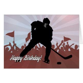 Silhouette Hockey Player for Birthday Card
