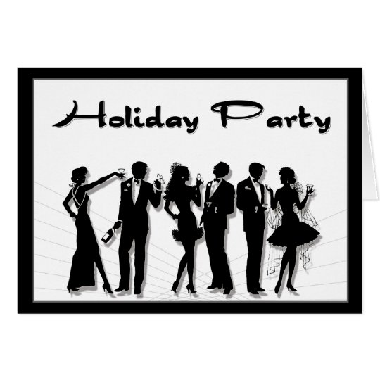 Silhouette Holiday Party Invitation