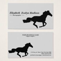silhouette horse 08 business card