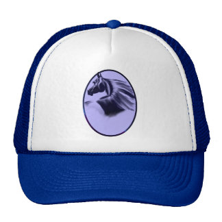 Silhouette Horse Oval Hat