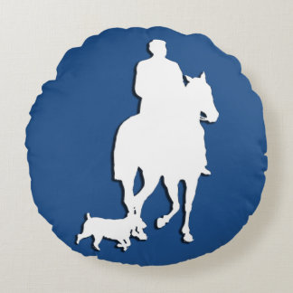 Silhouette Horse & Rider with dog cuddle pillow