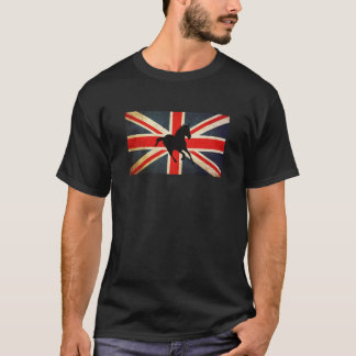 Silhouette Horse with Union Jack Flag Shirt