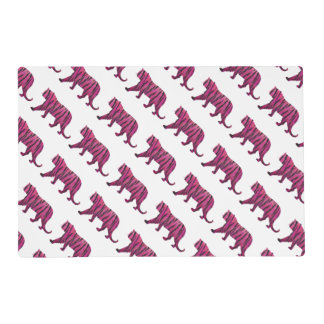 Silhouette Hot Pink and Black Tiger Placemat