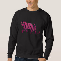 Silhouette Hot Pink and Black Tiger Sweatshirt