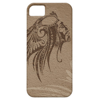 Silhouette Indian Chief Brown iPhone 5 Cover