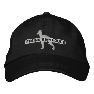 Silhouette Italian Greyhound Embroidered Hat