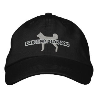 Silhouette Karelian Bear Dog Embroidered Hat