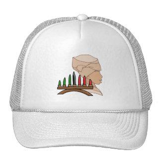 Silhouette Kinara Kwanzaa Mesh Hat