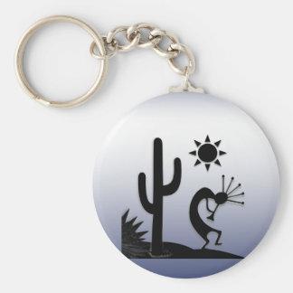 Silhouette Kokopelli Basic Round Button Keychain