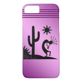 Silhouette Kokopelli on Purple iPhone 8/7 Case