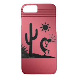 Silhouette Kokopelli on Red iPhone 8/7 Case