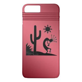 Silhouette Kokopelli on Red iPhone 8 Plus/7 Plus Case