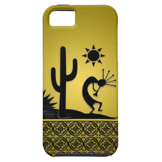 Silhouette Kokopelli with Black Lace iPhone SE/5/5s Case