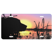 Silhouette Lab in the Duck Blind License Plate