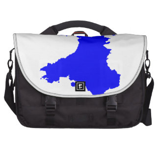 Silhouette Map Of Wales Laptop Bag