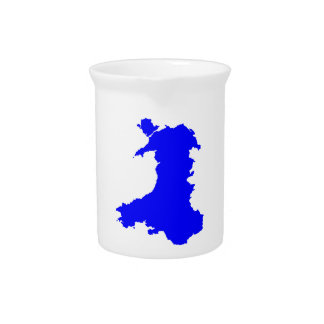 Silhouette Map Of Wales Pitcher