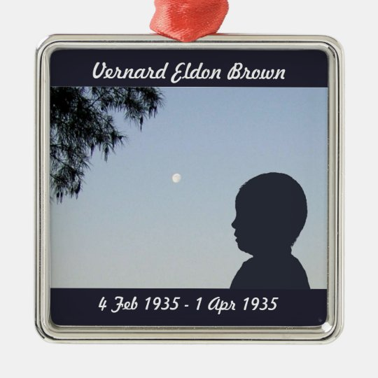 Silhouette Memorial Ornament - Baby Boy