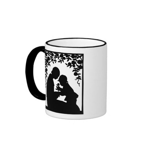 Silhouette Mother & Child Happy Mother's Day Mug