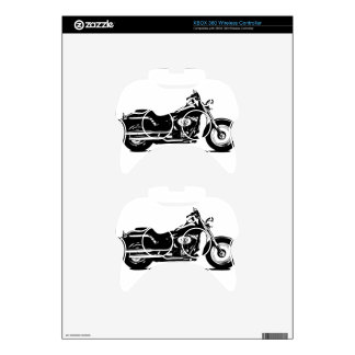 silhouette motorcycle xbox 360 controller skin