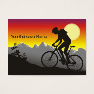 Silhouette Mountain Bike Business Cards