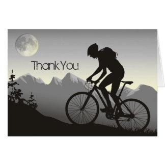 Silhouette Mountain Bike Thank You Card