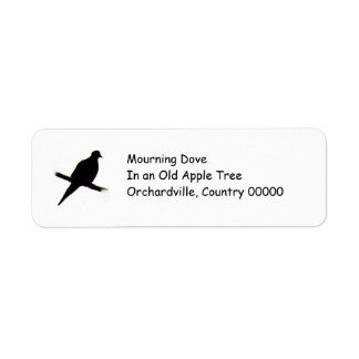 silhouette Mourning Dove Label