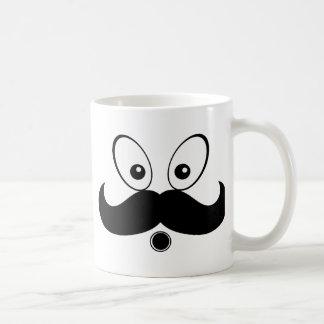 Silhouette Mustach Fuuny Classic White Coffee Mug