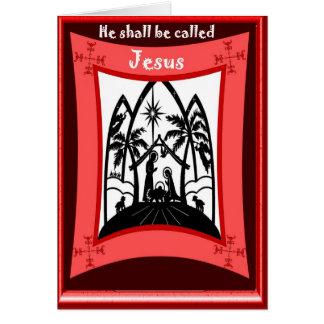 Silhouette Nativity Greeting Card