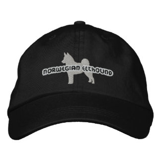 Silhouette Norwegian Elkhound Embroidered Hat