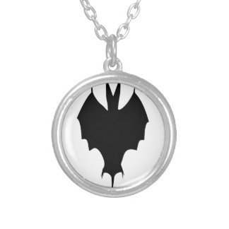 Silhouette Of a Bat Silver Plated Necklace