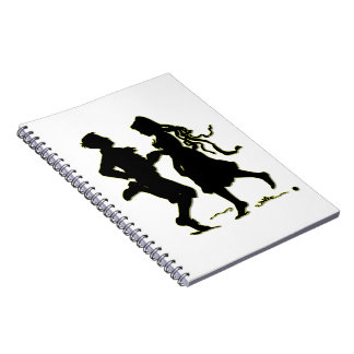 Silhouette of a Couple dancing a jig Notebook