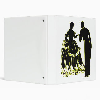 Silhouette of a Couple in Love Binder