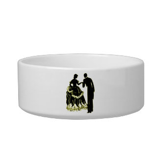 Silhouette of a Couple in Love Bowl