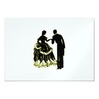 Silhouette of a Couple in Love Card