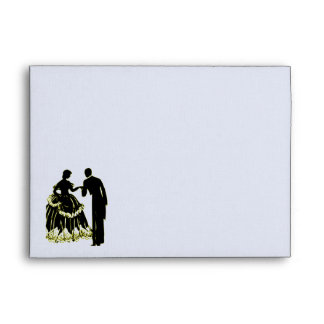Silhouette of a Couple in Love Envelope