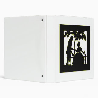 Silhouette of a Couple in Love in a park Binder