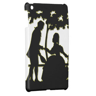 Silhouette of a Couple in Love in a park iPad Mini Covers