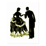 Silhouette of a Couple in Love Postcard